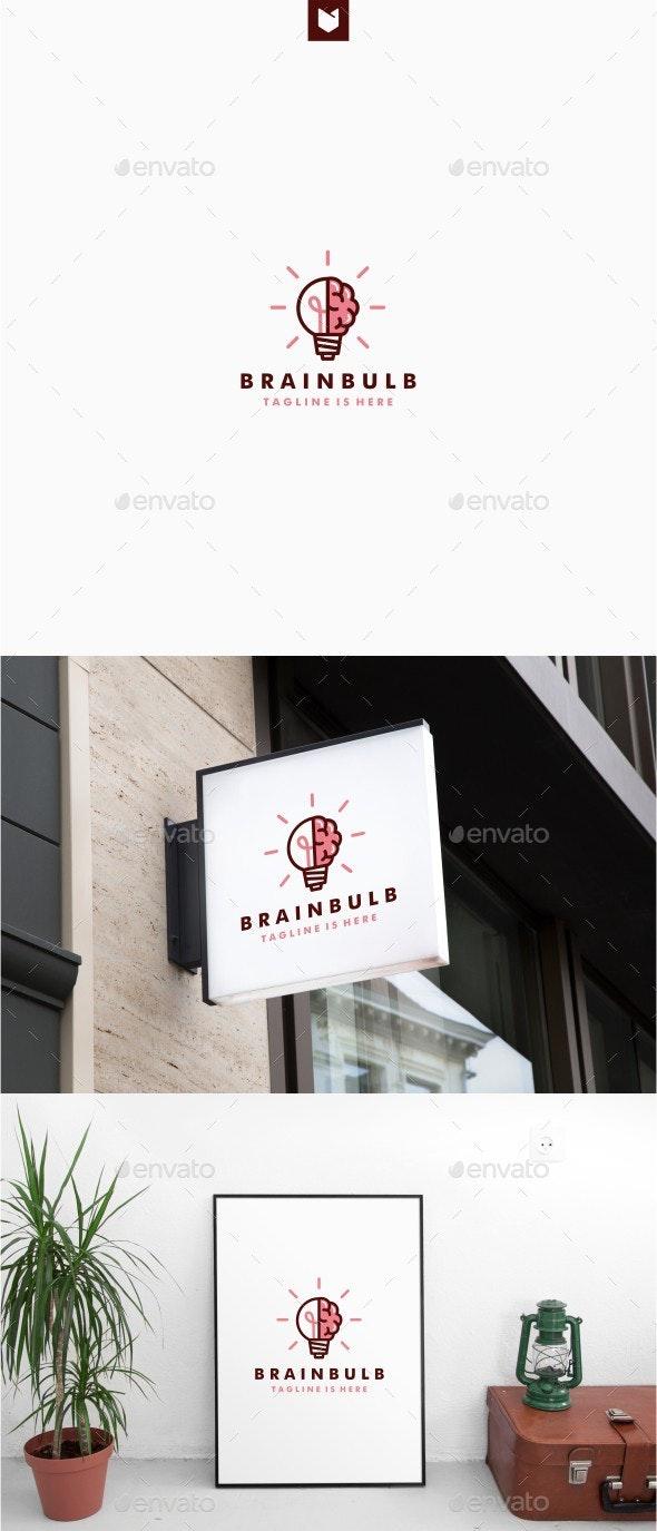 Brain Bulb Idea Logo - Objects Logo Templates