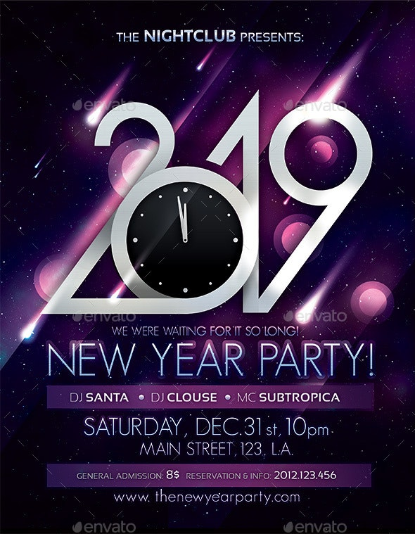 2019 New Year Party Poster - Clubs & Parties Events