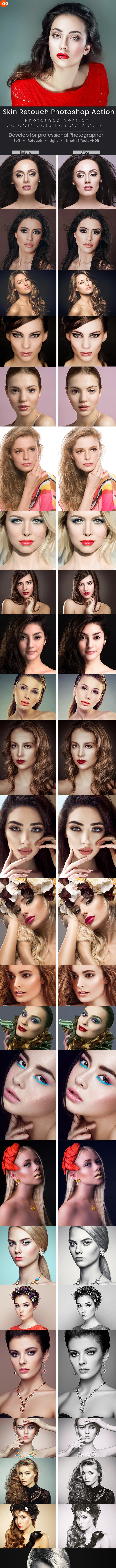 30 Skin Retouching Photoshop Action - Photo Effects Actions