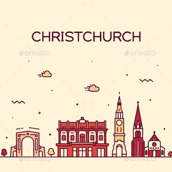 Christchurch City Skyline