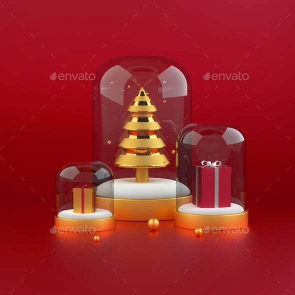 3D Christmas Tree with Presents