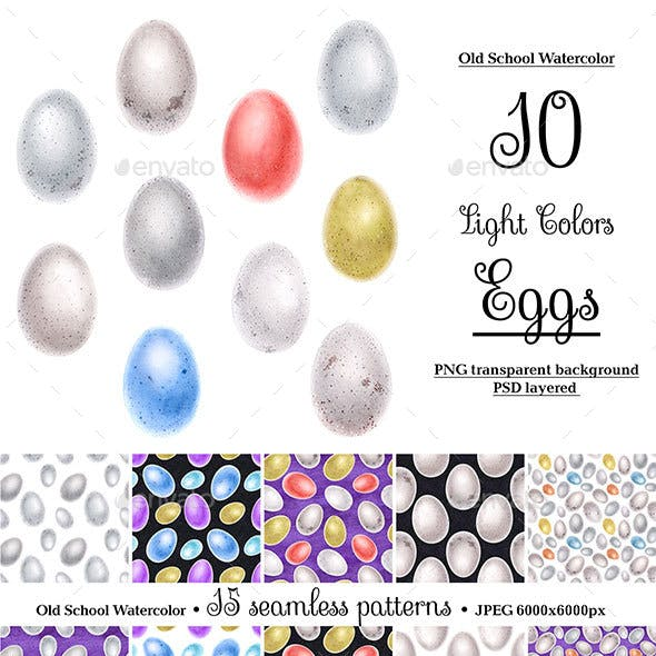 Bird Watercolor Eggs
