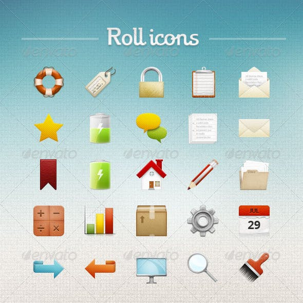 Roll icons
