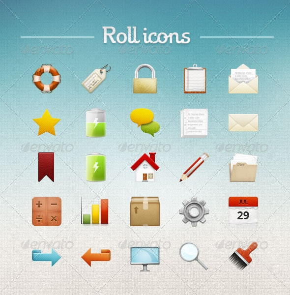 Roll icons - Web Icons