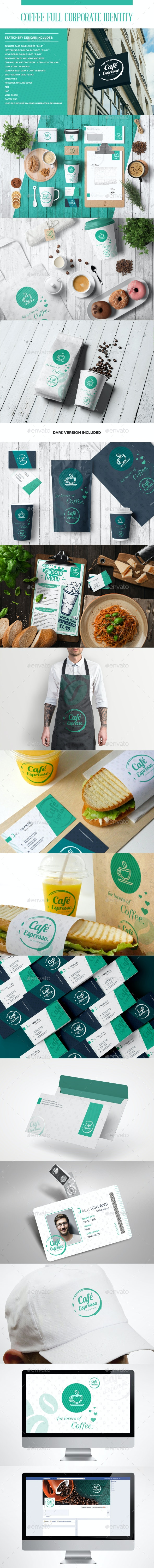 Coffee Full Corporate Identity - Stationery Print Templates