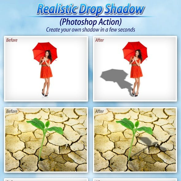 Realistic Drop Shadow (Photoshop Action)