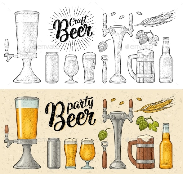 Beer Set - Food Objects