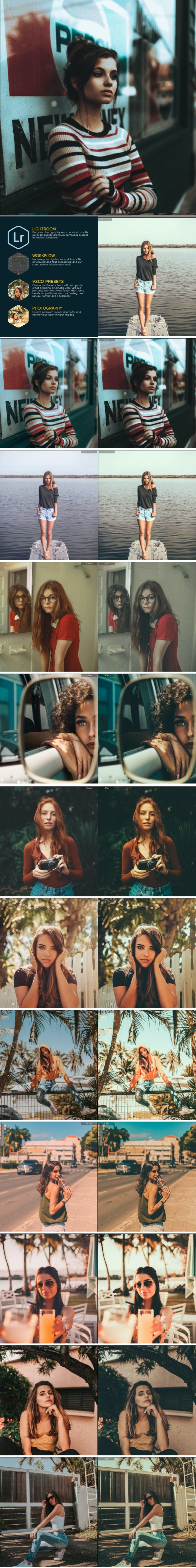 Moody Portrait Presets - Film Lightroom Presets