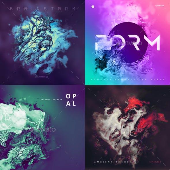 Abstract Album Cover Artwork Templates Bundle