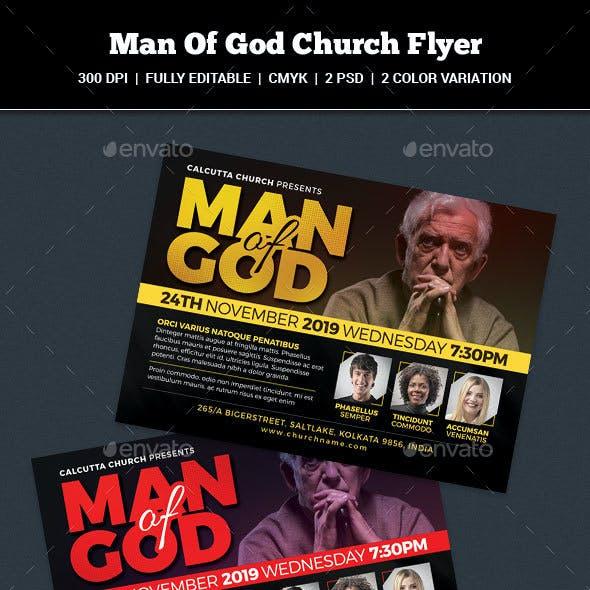 Man Of God Church Flyer