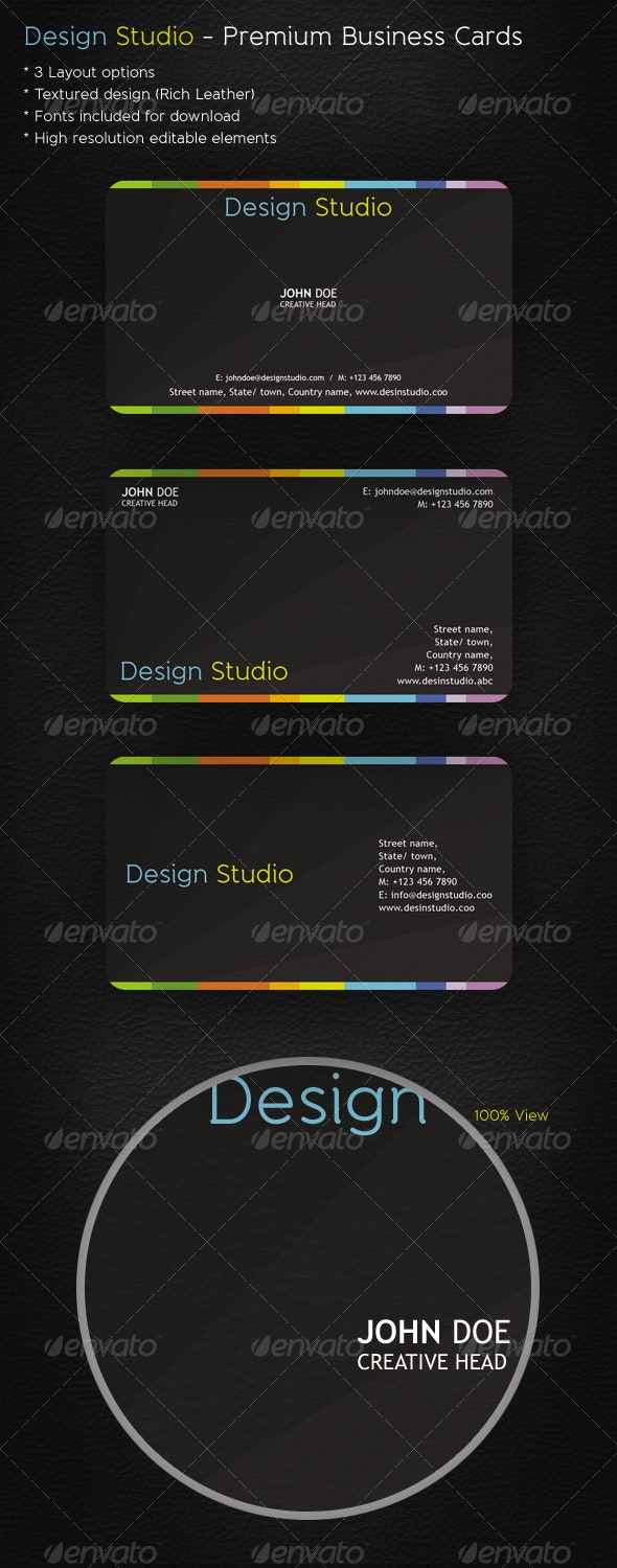 Design Studio - Business Card Template - Corporate Business Cards
