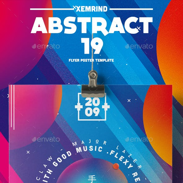 Abstract 19 Flyer/Poster Template