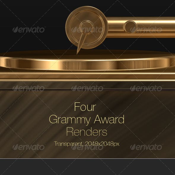 3D Grammy Record Player Award
