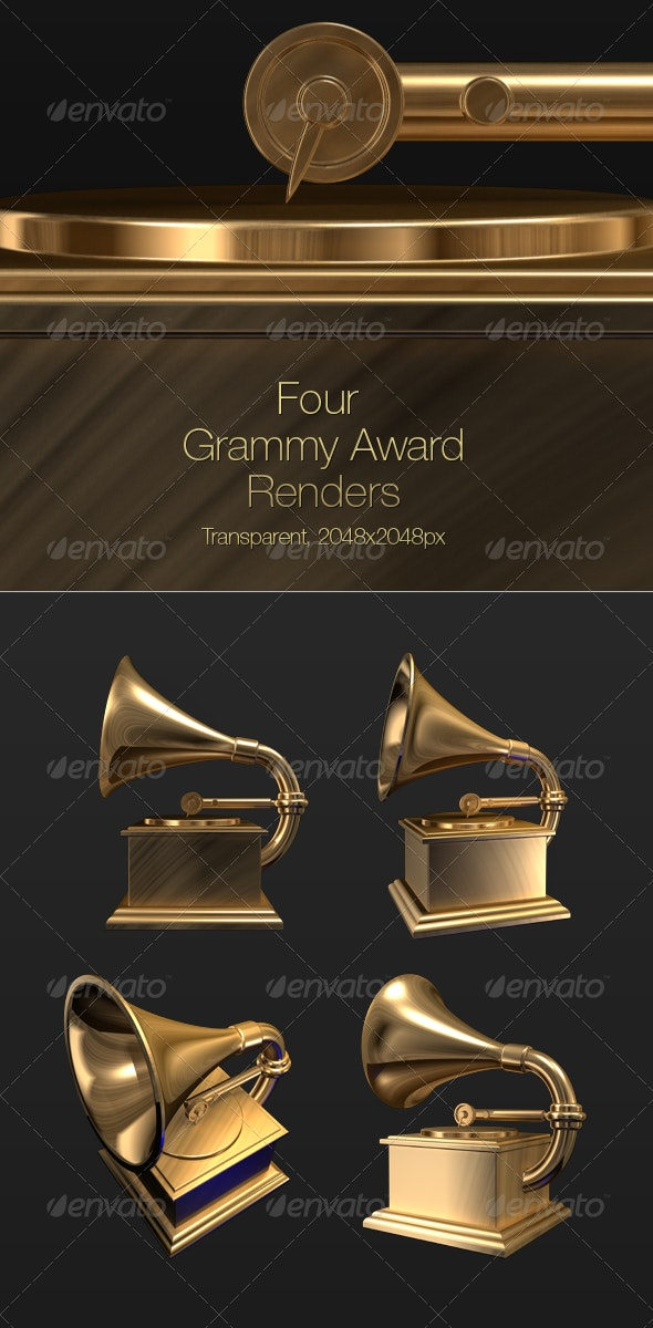 3D Grammy Record Player Award - Objects 3D Renders