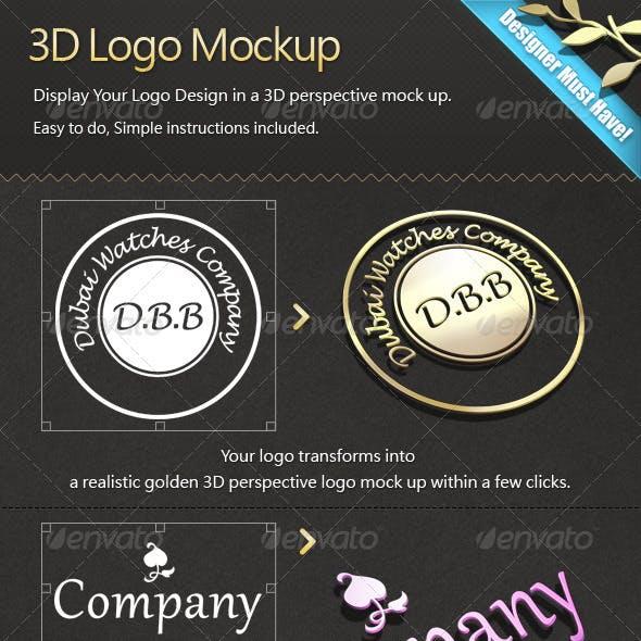 3D Logo Mock-ups Pack