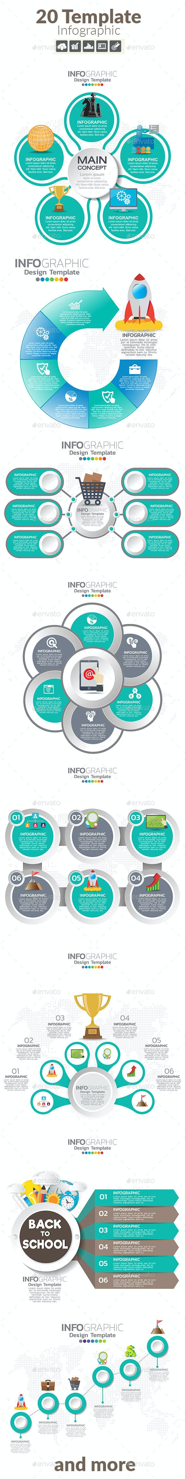 Infographic design template with text boxes. Vector illustration for internet blog, website, etc. - Infographics