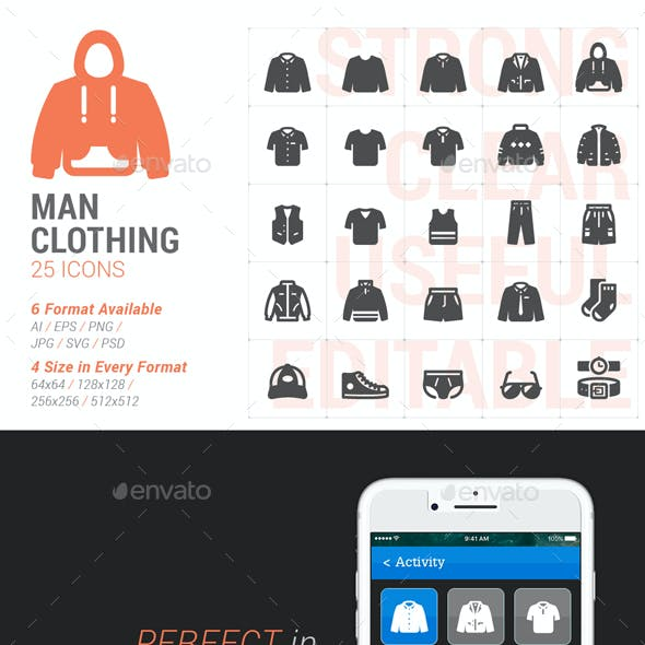 Man Clothing Filled Icon