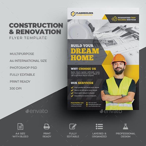 Construction & Renovation Flyer