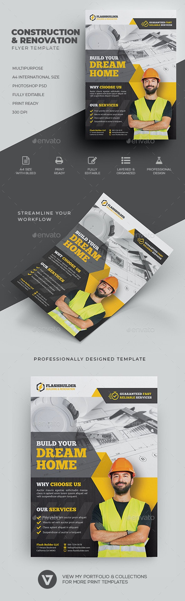 Construction & Renovation Flyer - Corporate Flyers