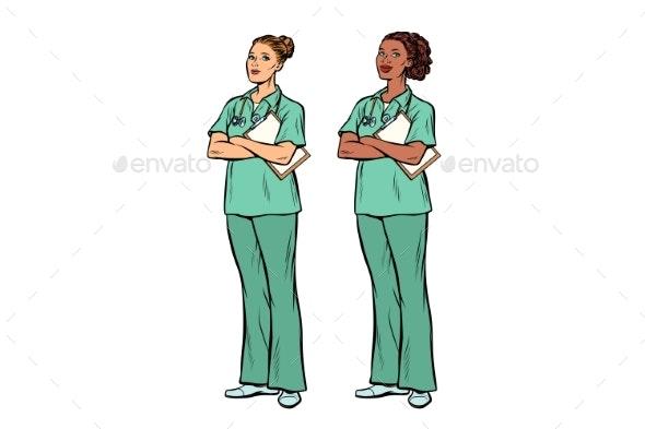 Pop Art Nurses - People Characters