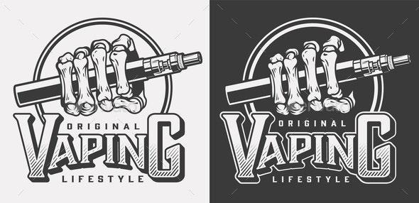 Vintage Vaping Logotypes - Miscellaneous Vectors