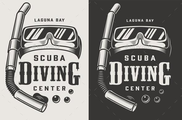 Vintage Diving Logotypes - Miscellaneous Vectors