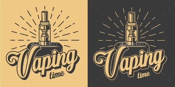 Vintage Vape Emblems - Miscellaneous Vectors