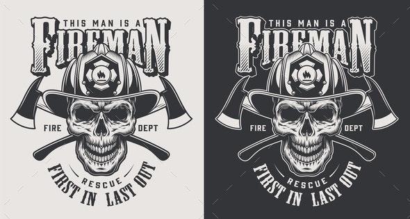 Vintage Firefighting Logotype - Miscellaneous Vectors