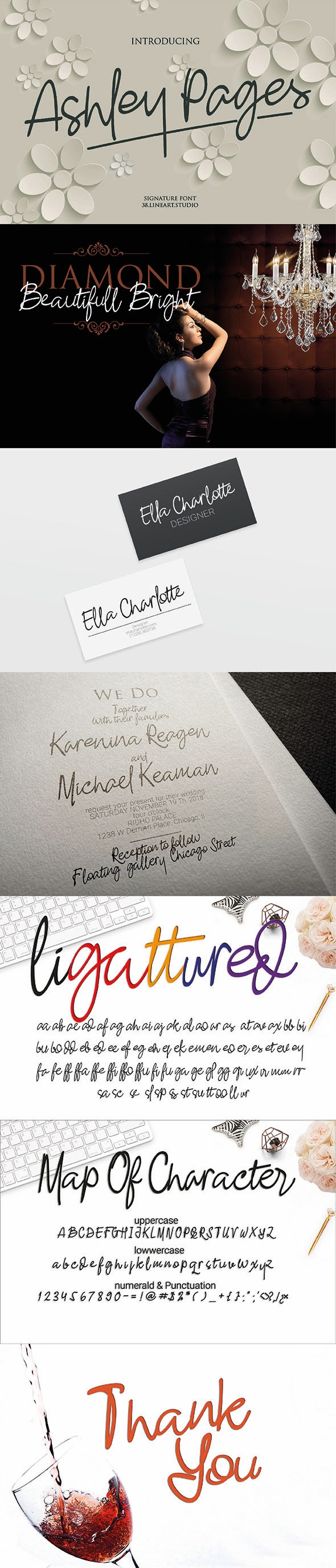 Ashley Pages - Hand-writing Script