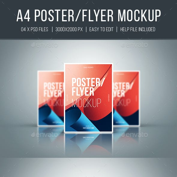 A4 Flyer / Poster Mockup