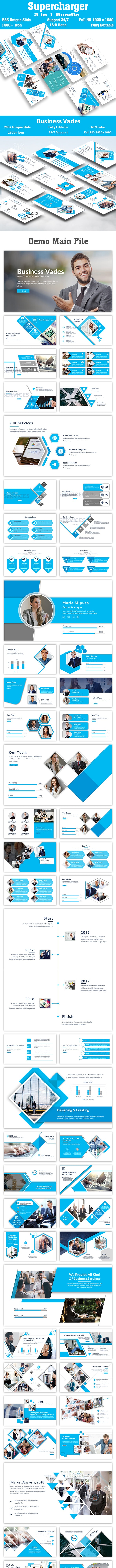 Bundle Business Supercharger 3 in 1  PowerPoint Template - Creative PowerPoint Templates