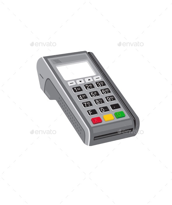 Point of Sale POS Terminal Retro - Man-made Objects Objects
