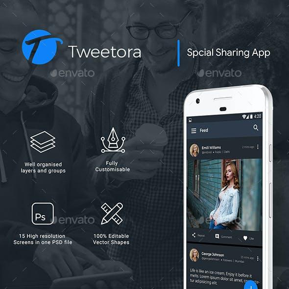 Social media App UI kit | Tweetora