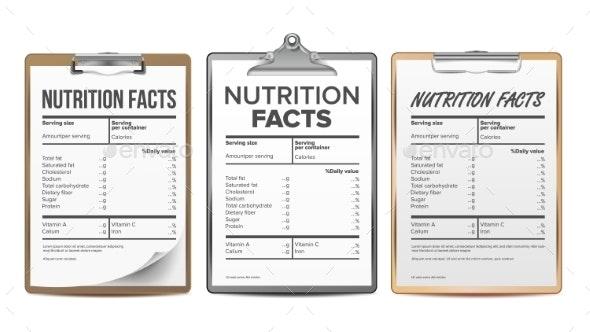 Nutrition Facts Vector - Miscellaneous Vectors