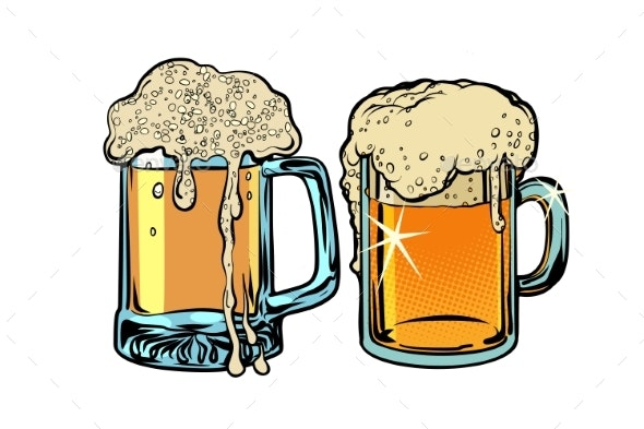 Beer Foam Isolate on White Background - Food Objects