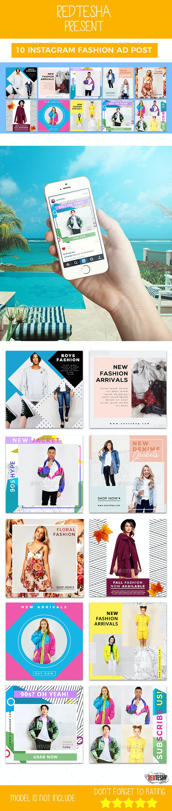 Instagram Fashion Banner #14 - Banners & Ads Web Elements