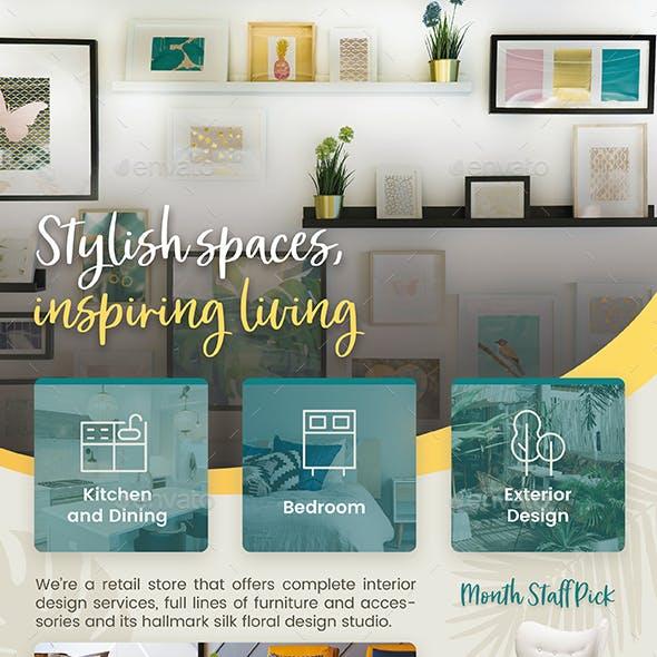 Interior Design Flyer Graphics Designs Templates
