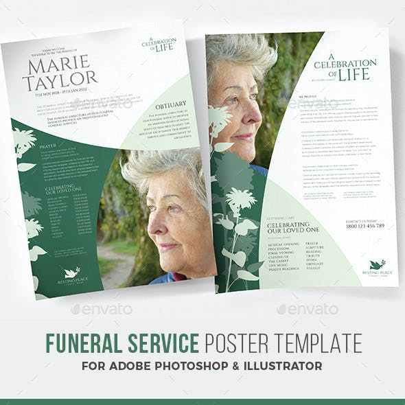 Funeral Service Flyer / Poster