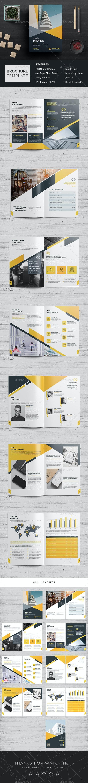 Company Profile Brochure Template - Brochures Print Templates