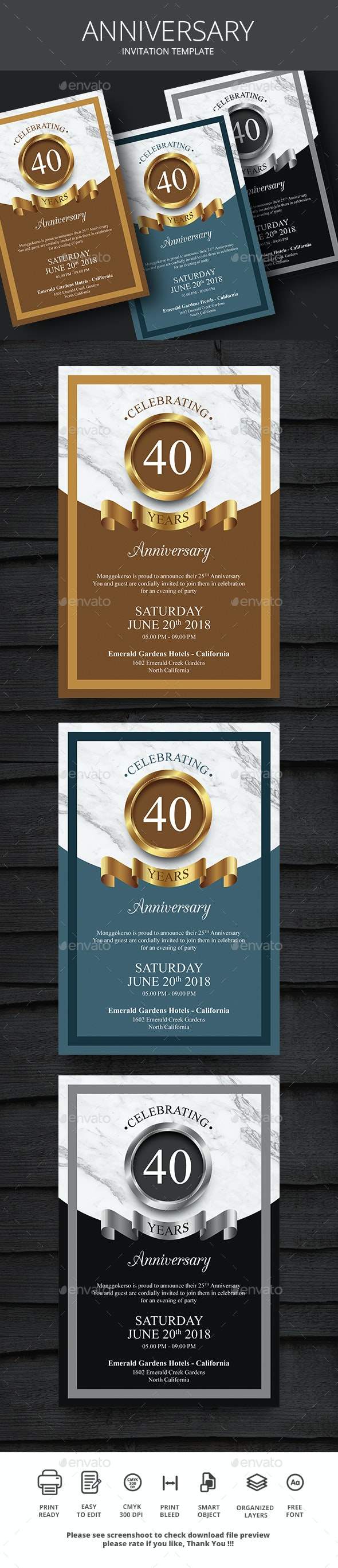 Anniversary - Events Flyers