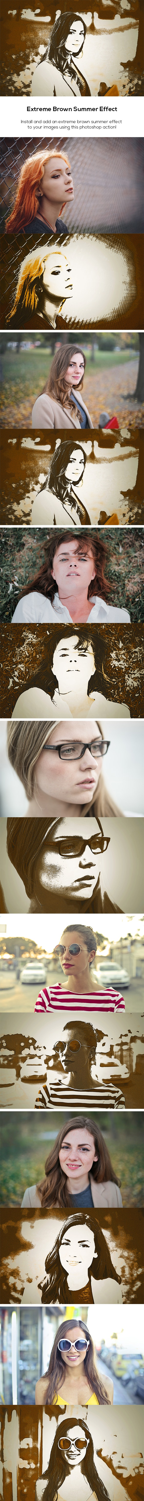 Extreme Brown Summer Effect - Photo Effects Actions
