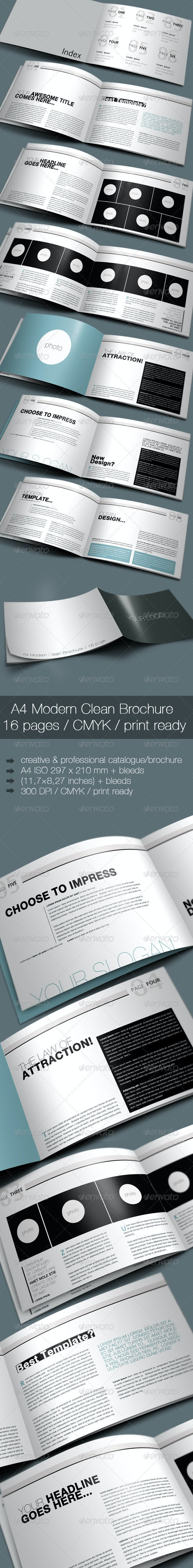 A4 Modern Clean Booklet / Catalogue / Brochure - Corporate Brochures