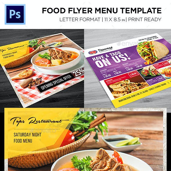 Restaurant Menu - Food Menu Flyer Bundle
