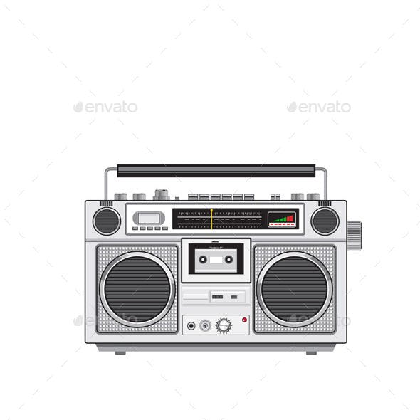 Vintage Portable Radio Cassette Player Retro