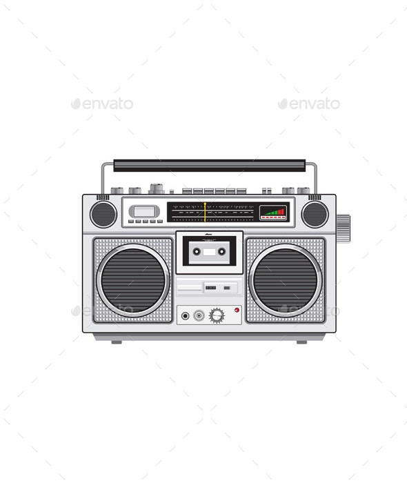 Vintage Portable Radio Cassette Player Retro - Man-made Objects Objects