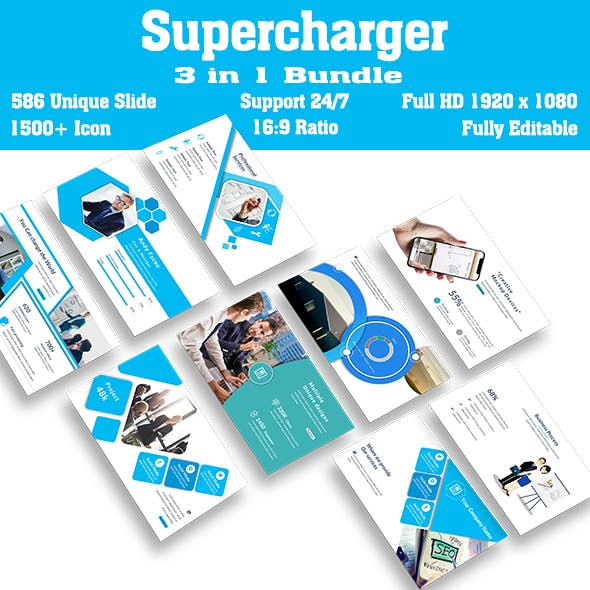 Bundle Business Supercharger 3 in 1 Keynote Template