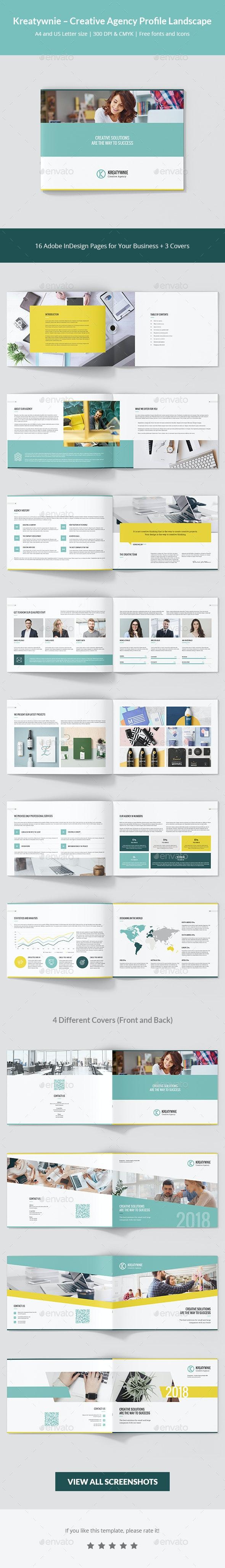 Kreatywnie – Creative Agency Profile Landscape - Corporate Brochures