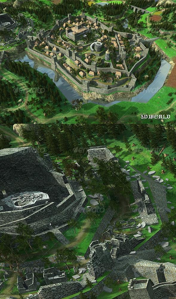 3d World Poster 2 - 3D Backgrounds