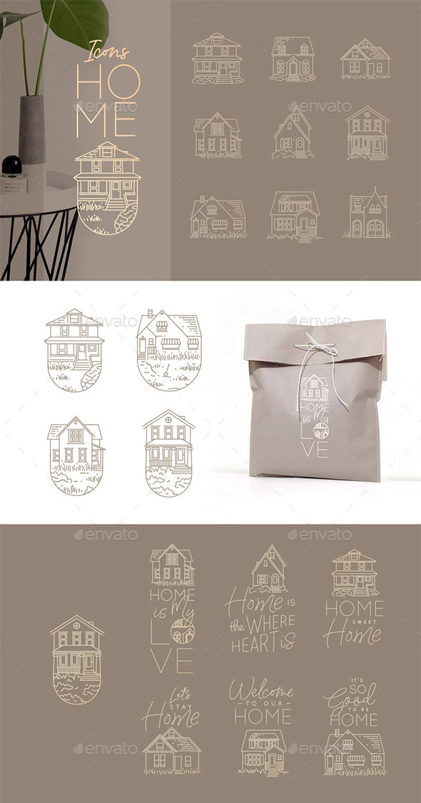 Home Icons - Buildings Objects