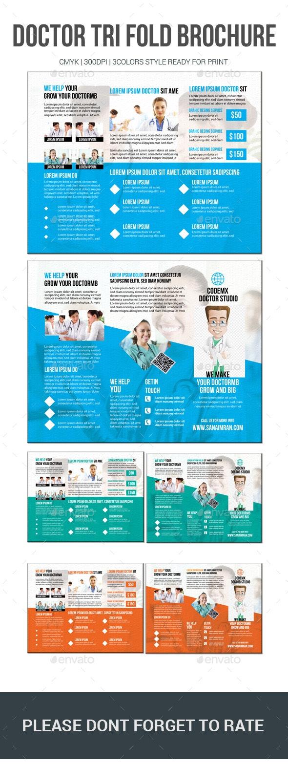 Doctor Tri Fold Brochure - Brochures Print Templates